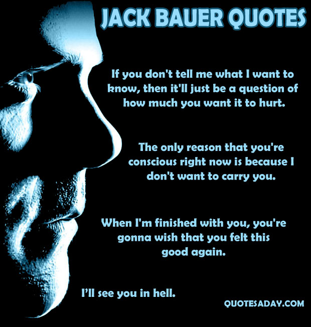 Jack Bauer Funny Quotes