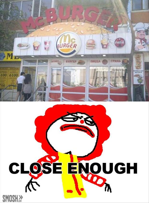 Mcdonalds, funny signs - Dump A Day