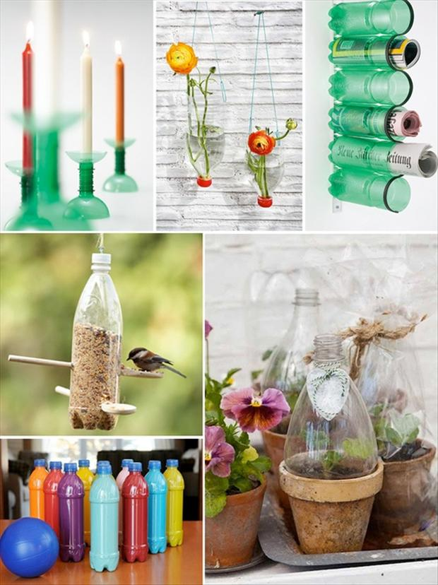 Amazing ideas 13 dump a day for Home decor using plastic bottles