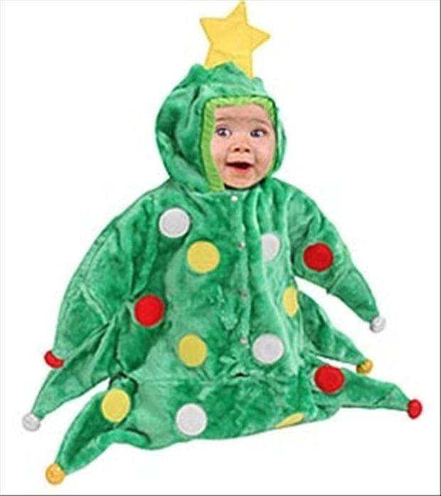 baby christmas outfit, baby christmas tree - Dump A Day