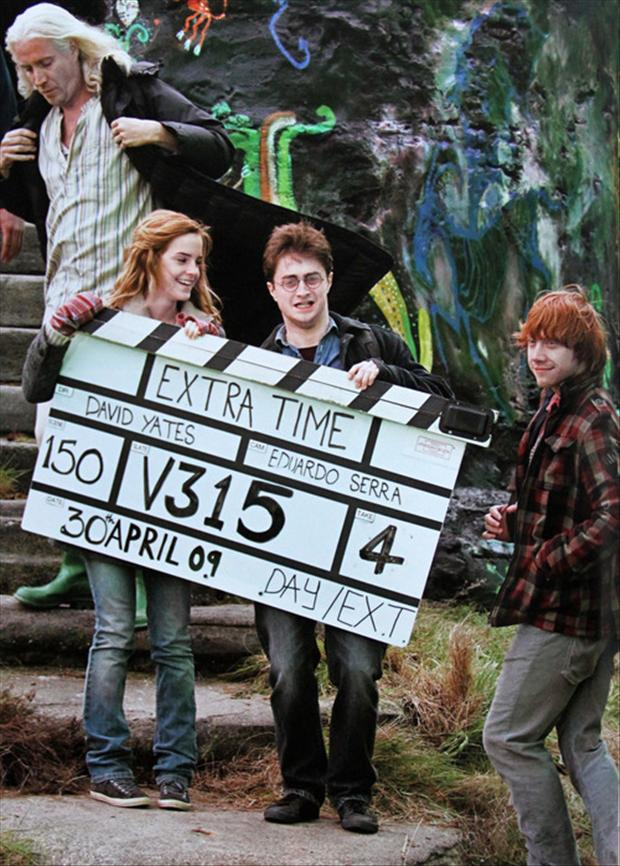 Behind the scenes of the harry potter movies dumpaday 2