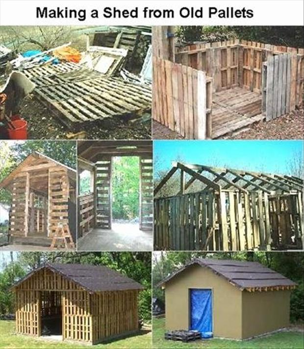 Building with old pallets dump a day for Build a greenhouse from pallets
