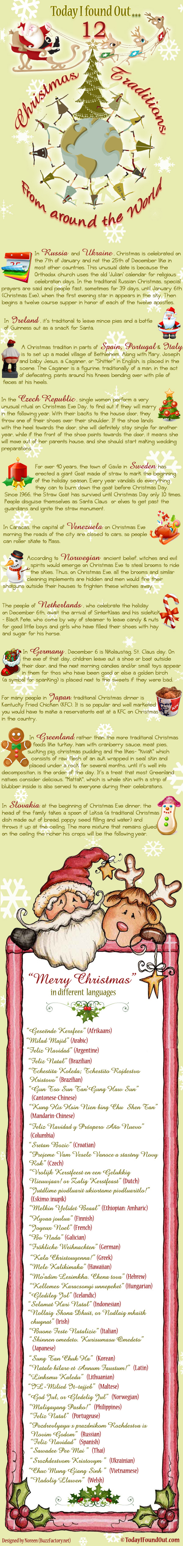 Christmas Traditions From Around The World – Infographic