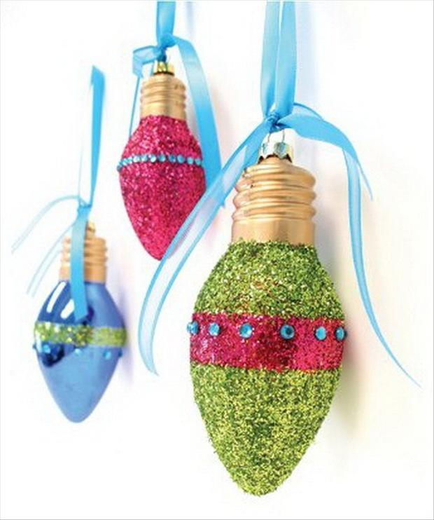 Christmas Bulb Craft Ideas Part - 26: Christmas Ornaments, Craft Ideas