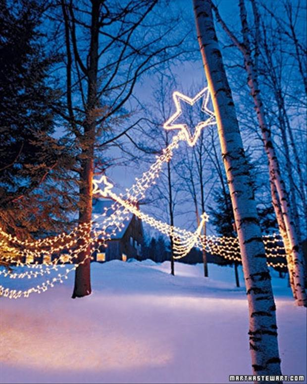 Christmas star outdoor christmas lights dump a day for Exterior xmas lighting ideas