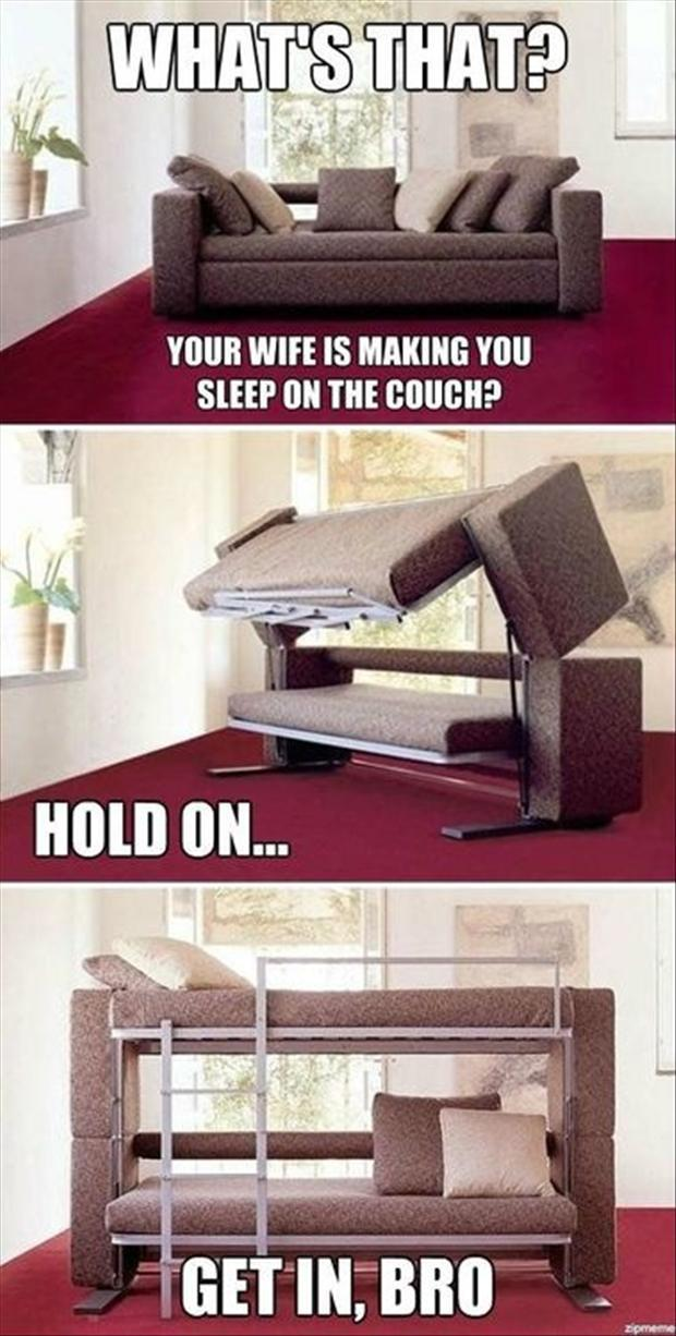 Couch Tuns Into A Bed, Funny Pictures
