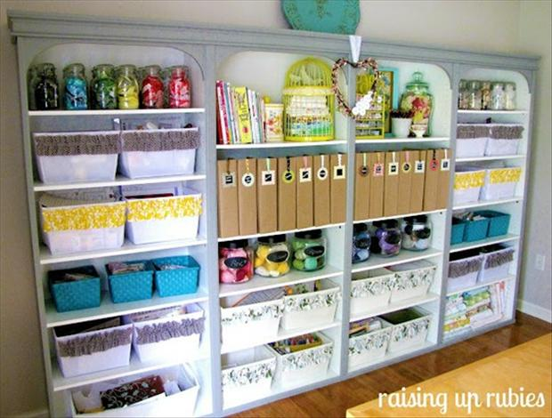 Storage For Craft Room: Craft Room Storage Galore