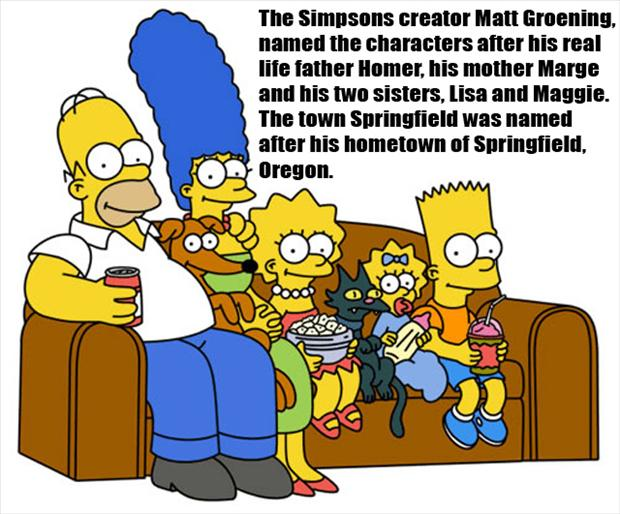 fun facts, the simpsons