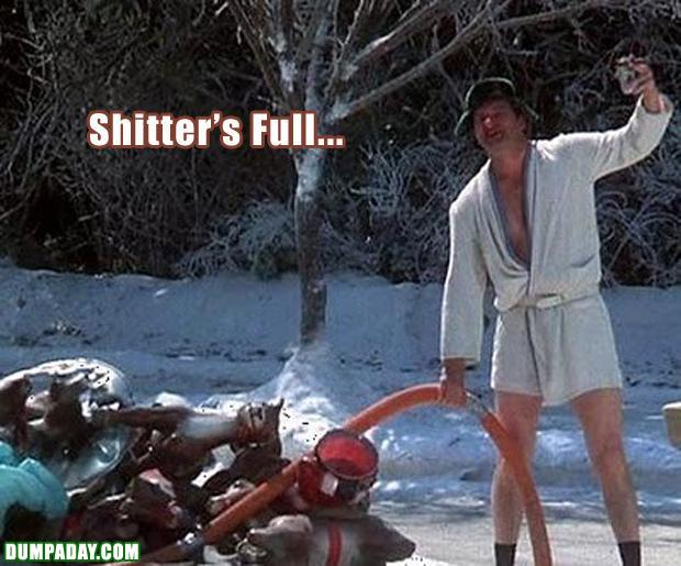 funny christmas pictures, shitters full, national lampoons christmas vacation