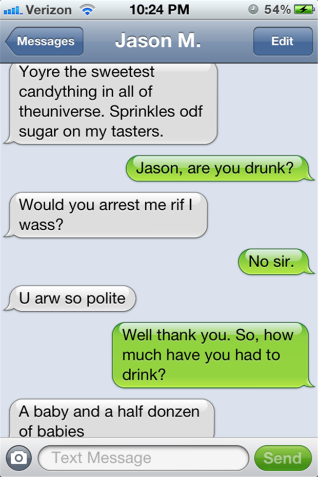 Text messages from drunk people fail and win