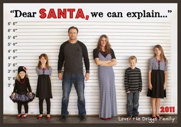 funny family christmas cards dump a day