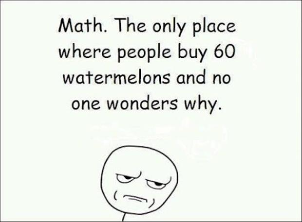 Funny Math Problems Wrote the grapes of math?