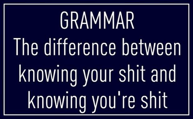 Funny Quotes Grammar The Difference Between Knowing Your Shit And Cool Grammar Quotes
