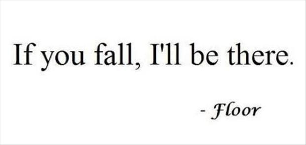 Funny Quotes If You Fall I Will Be There Dump A Day