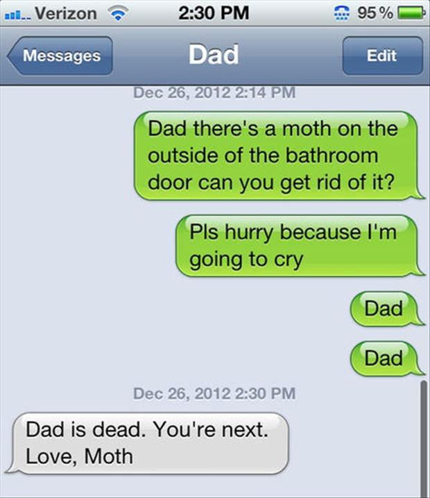 funny texts from dad   dump a day