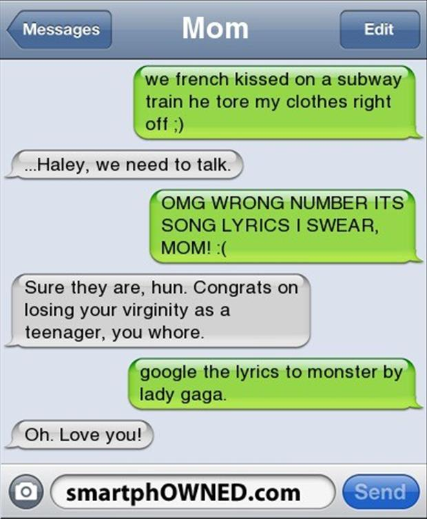 funny text messages gone wrong Quotes