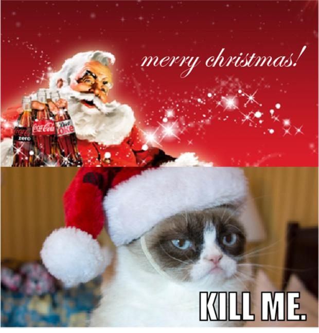 grumpy cat, merry christmas - Dump A Day