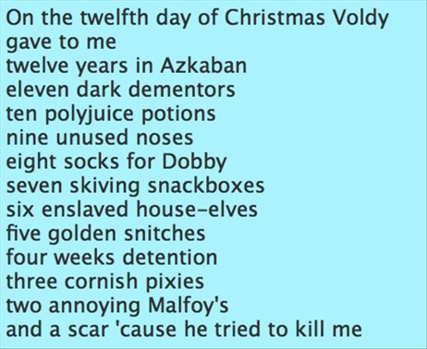 harry potter, 12 days of christmas - Dump A Day