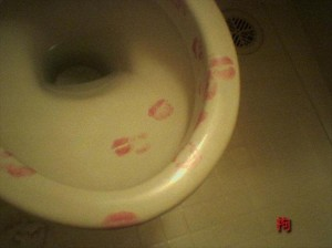 kissing the toilets, funny pictures