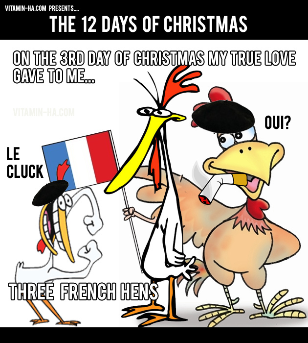 on the third day of christmas, funny 12 days of christmas - Dump A Day