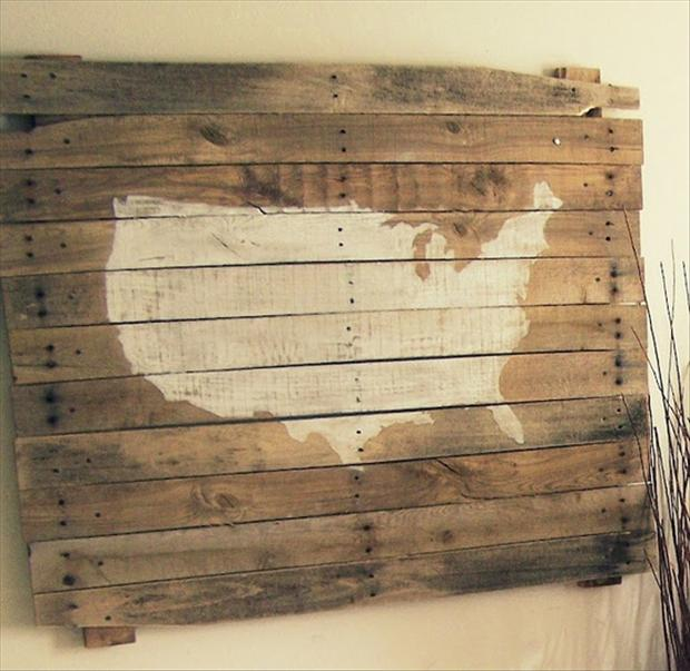 Pallet Ideas Map Of The United States Dump A Day - How to do us map on pallet