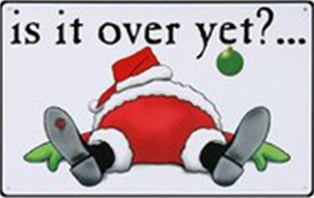 santa, funny quotes, is it over yet - Dump A Day