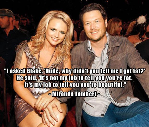 1 Miranda Lambert and Blake Shelton, funny quotes