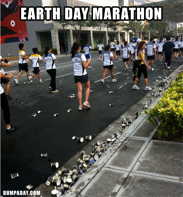 1 earth marathon day, funny pictures