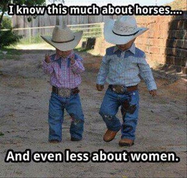 1 funny cowboys, women vs horses, quotes