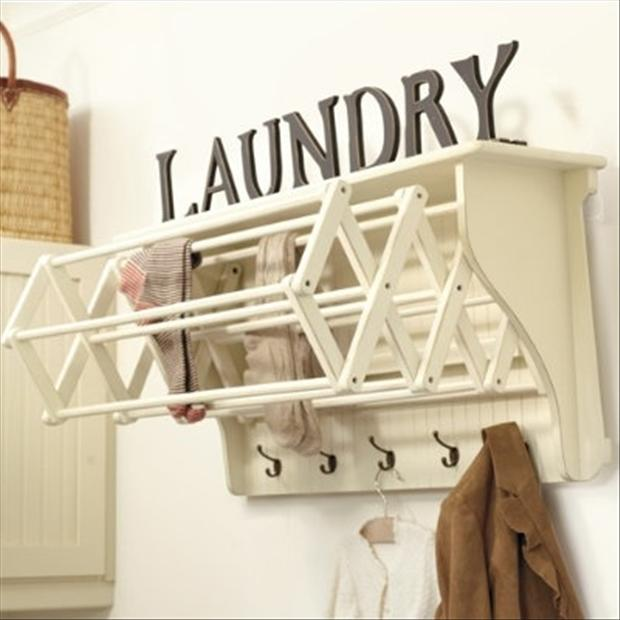 1 laundry rack, great ideas