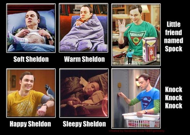 2 funny sheldon cooper pictures, soft kitty, knock, knock, knock