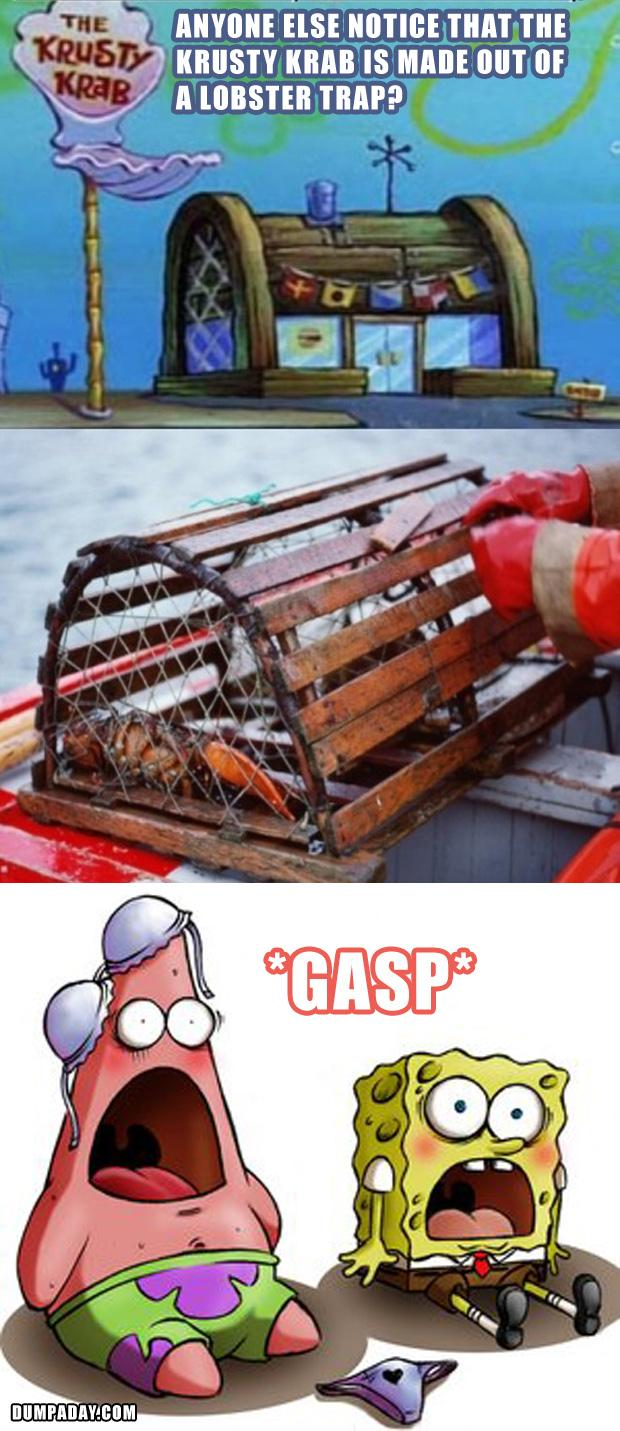 2 the krusty krab is made from a lobster trap, funny spongebob pictures