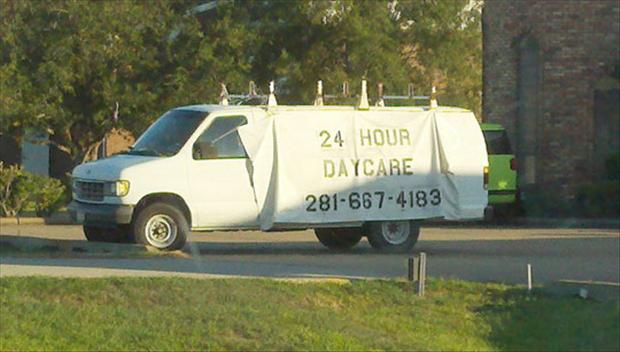 24 hour daycare center, seems legit