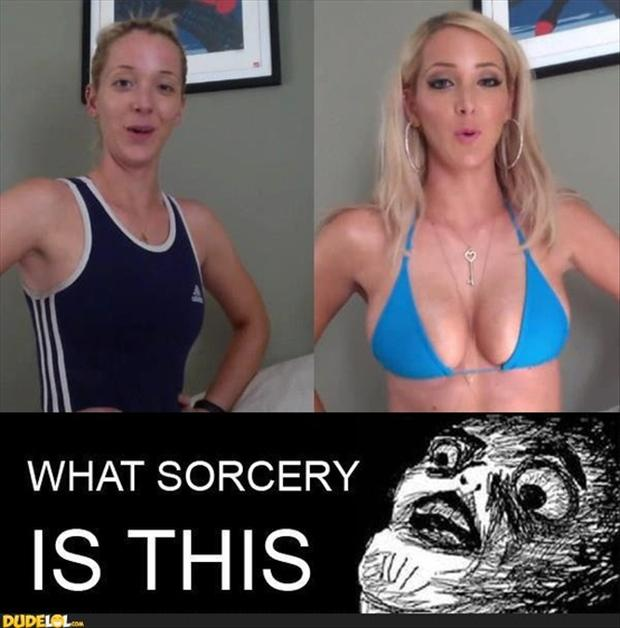 3 funny memes, sports bra and make up,