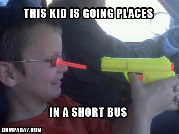 4 dumb kids shoots himself, funny pictures