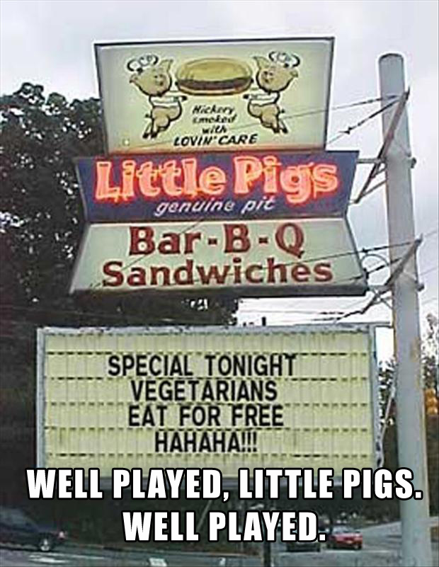 4 well played, bbq food