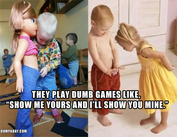 5 you show me yours, i will show you mine, fun kids games