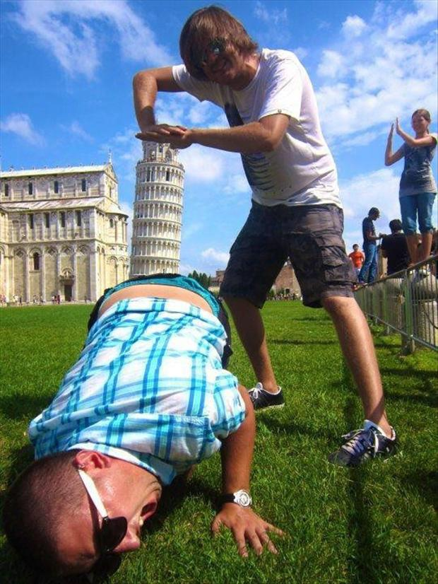 Best Leaning Tower of Pisa Tourist Pic Ever