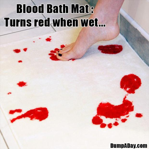 Cool & Unusual Products- Blood Bath Mat