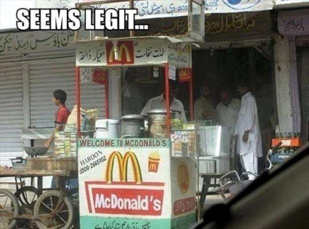 McDonalds, seems legit