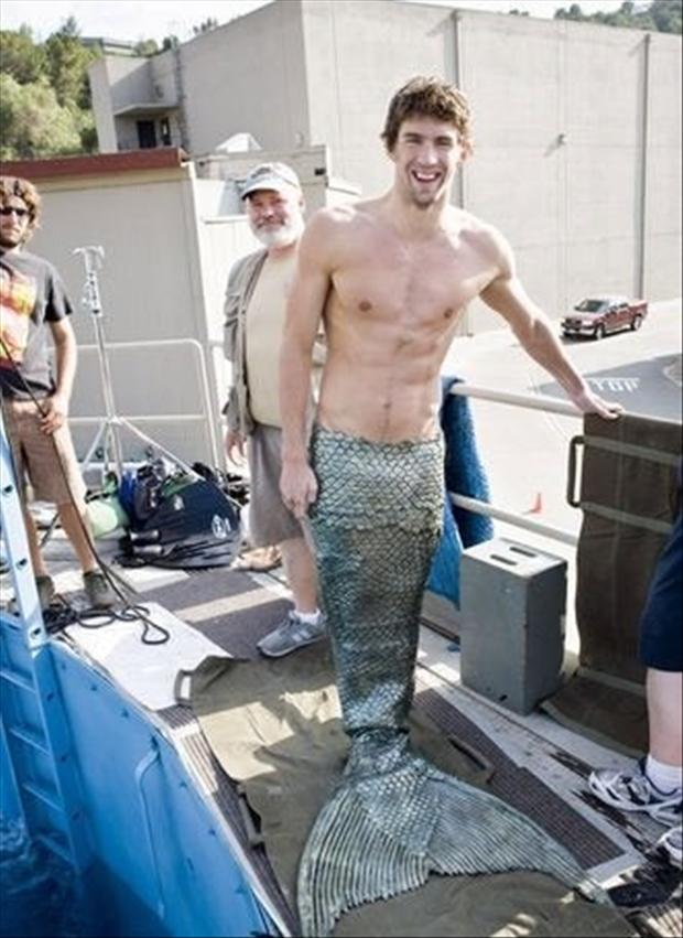 Michael Phelps as a Merman