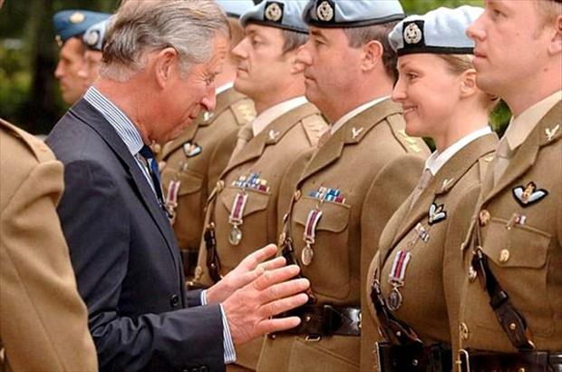 Prince Charles, perfectly timed photos