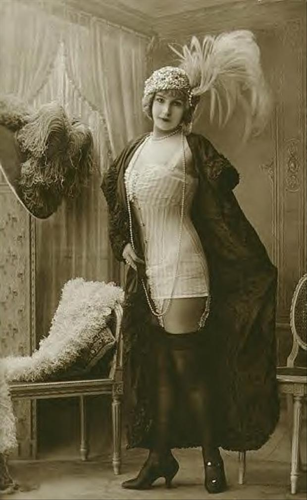 Risque Edwardian lady