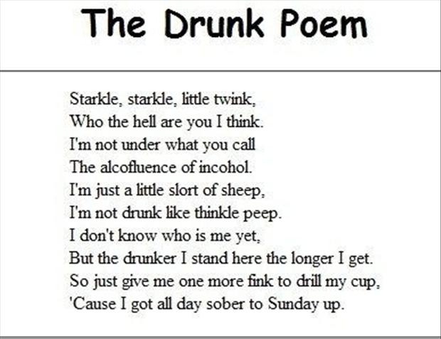 The Drunk Poem