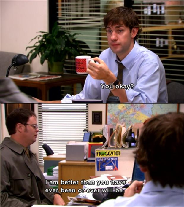 jim and dwight relationship memes