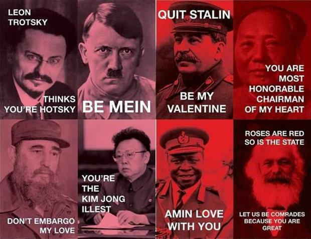 Tyrannical valentines day cards