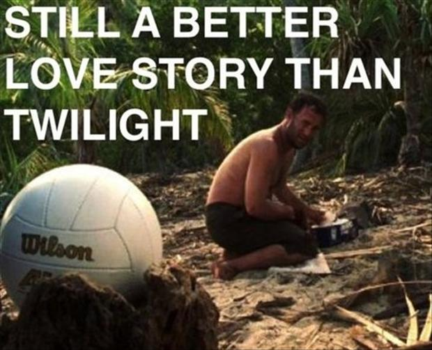 a better lovestory than twilight, wilson, castaway movie