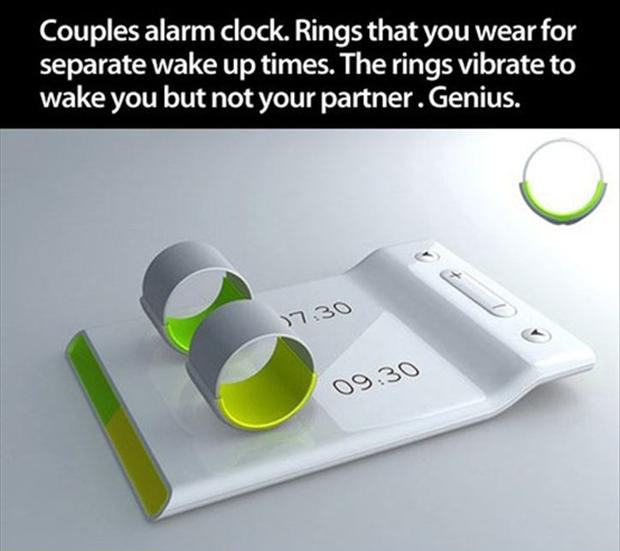 a couple alarm clock rings, smart ideas