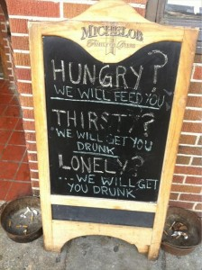 a funny bar signs
