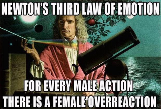 a funny newton laws